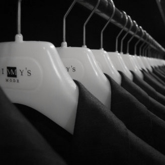kledinghangers melkwit met opdruk