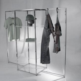 Middenpresentatie met 2 hangstangen in chroom, Icon CM 5